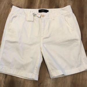 NWT J. Crew white cotton shorts